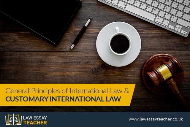 General Principles of International Law And Customary International Law